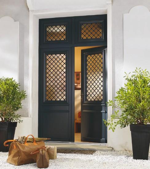 Portes d 39 entr e en bois bulgn ville vosges vittel contrexeville menui - Portes d entree vitrees ...